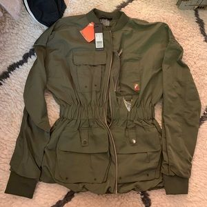 PE Nation streamline jacket olive green
